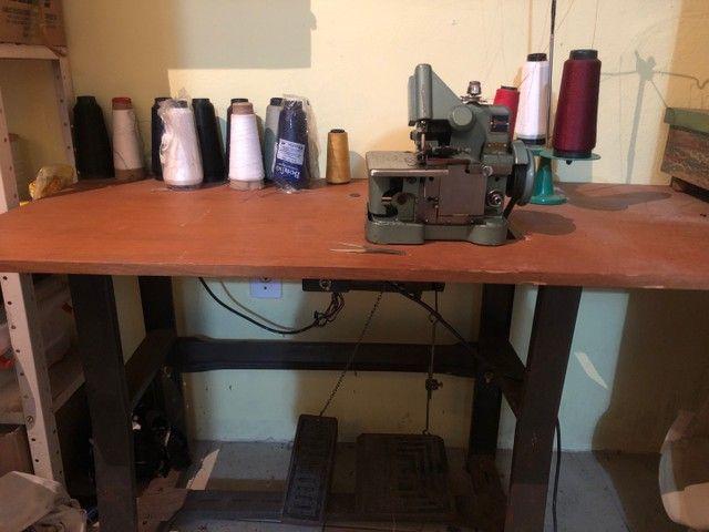 máquina overlock 220v c/ mesa - Foto 2