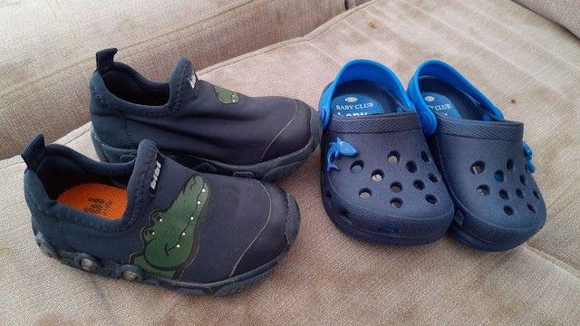 Tênis e Crocs tamanho21