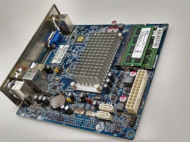 Kit placa mae ECS processador Intel atom e memória DDR3 2GB  - Foto 6