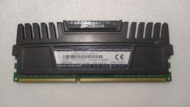 (Pix 400,00) Memória RAM 8Gb 1600mhz DDR3 Corsair - Foto 2