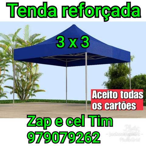 Tenda reforçada sanfonada 3x3