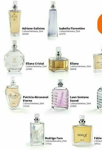 Perfumes dos artistas 25ml Jequiti