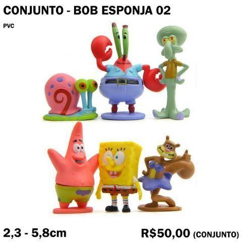 Conjunto Bob Esponja 6 Peças
