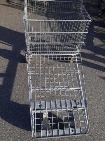 Carrinho de supermercado cesto e prancha - Foto 3
