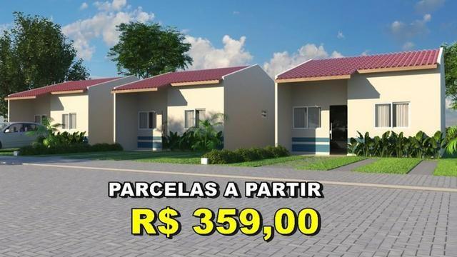 Casa com Sinal de 5 mil - Mensais a partir de 359 reais e descontos que chegam a 31 mil - Foto 3