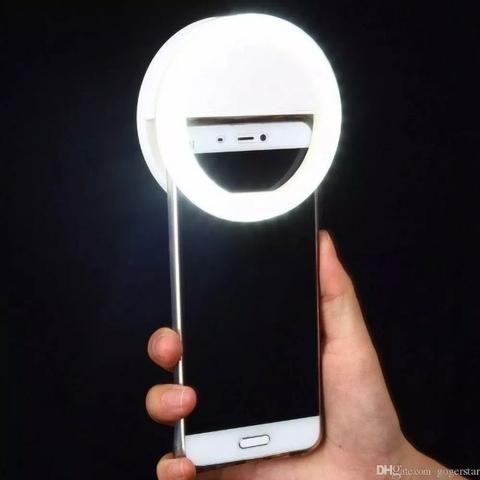 fde1040f2ad Luz Selfie Ring Light Clipe Anel Led Flash Celular Universal ...