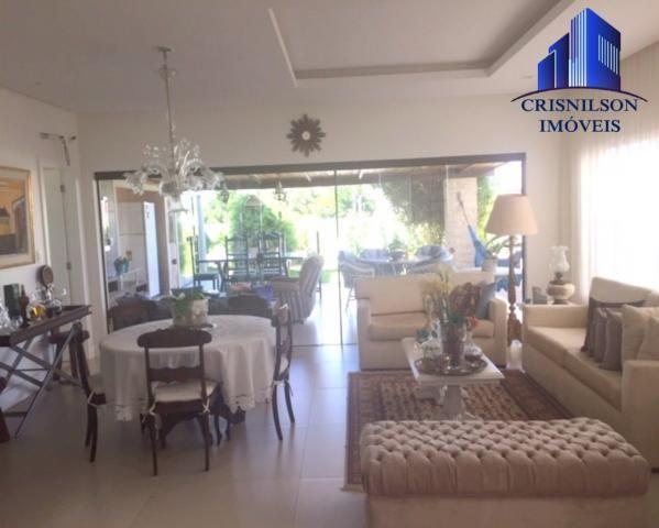 Casa à venda alphaville ii salvador, r$ 1.350.000,00, excelente casa térrea com jardim, am - Foto 3