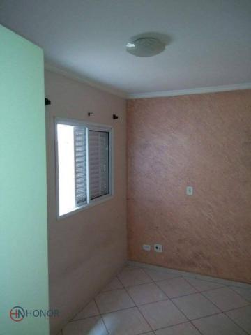 Apartamento com 3 dormitórios à venda, 90 m² por r$ 399.000 - parque das nações - santo an - Foto 15