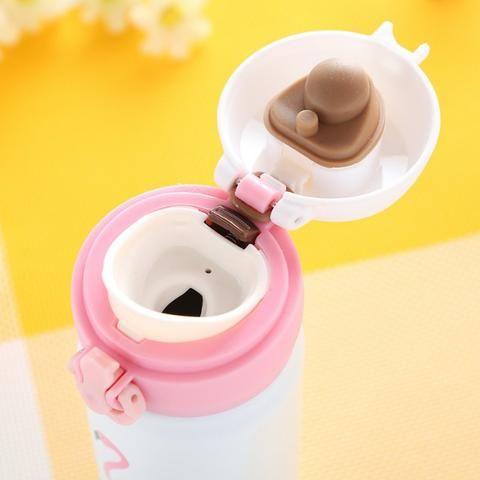 Garrafa Térmica De Inox 450 ML com Estampa de Flamingo - Foto 5