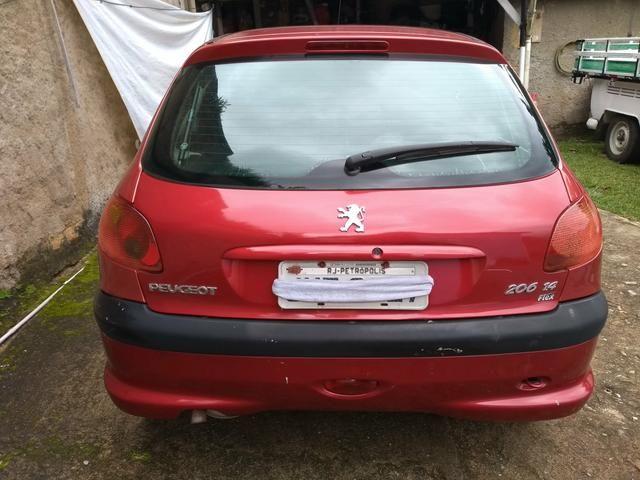 Peugeot 206 ano 2007 1.4 flex com manual nota fiscal de fábrica e chave reserva - Foto 13