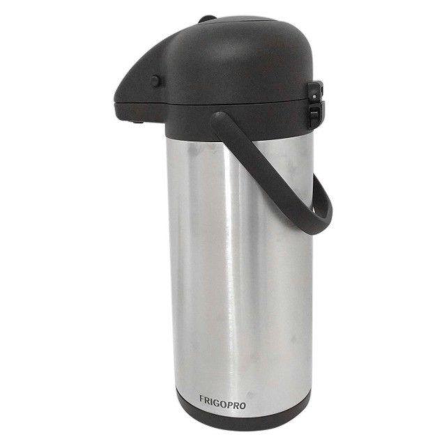 Garrafa Térmica Aço Inox 2,2 Litros Inquebrável Quente e Fria