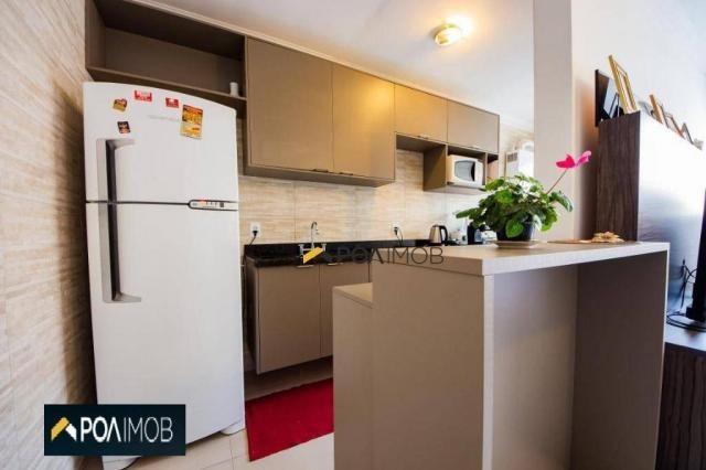 Apartamento com 2 dormitórios para alugar, 54 m² por R$ 1.800,00/mês - Protásio Alves - Po - Foto 9