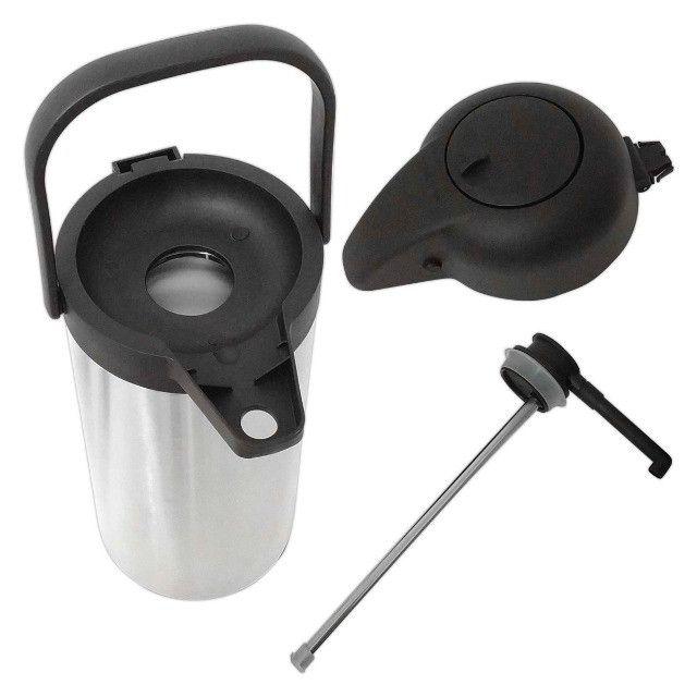 Garrafa Térmica Aço Inox 2,2 Litros Inquebrável Quente e Fria - Foto 4