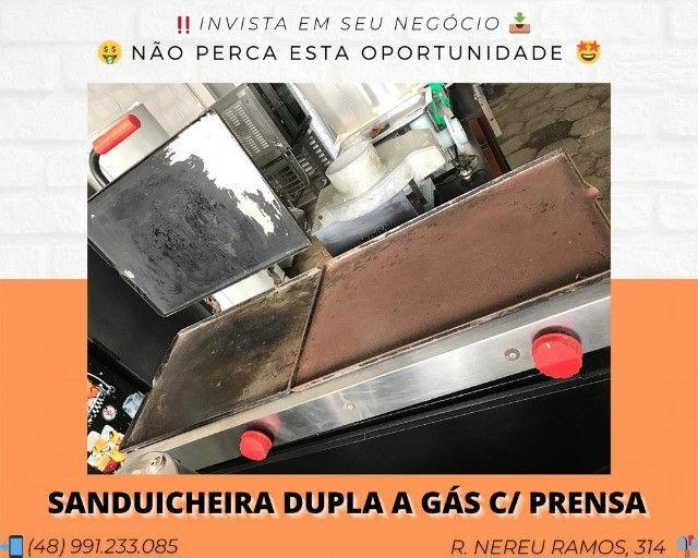 Chapa para lanches c/ prensa a gás - Matheus