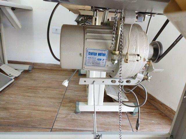 Overlock ponto cadeia máquina de costura - Foto 3