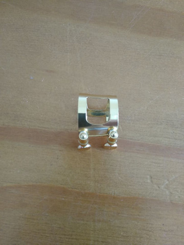 Sax Alto - Clarinete - Abraçadeira Dourada - Foto 4