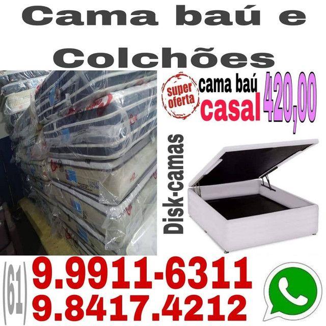 """Colchão """"Terminou aqui sua pesquisa !! Box bau e com gaveta - Foto 3"""