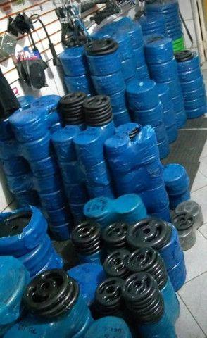 Anilhas peso de ferro para musculação só 7,99 o kg  - Foto 2