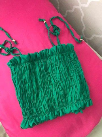 Cropped verde lastex  - Foto 3