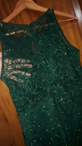Vestido longo verde escuro - Foto 4
