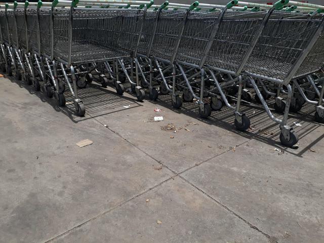 Carrinho de supermercado cesto e prancha - Foto 6