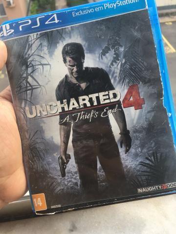 Uncharted 4 ps4 português dublado usado mídia física
