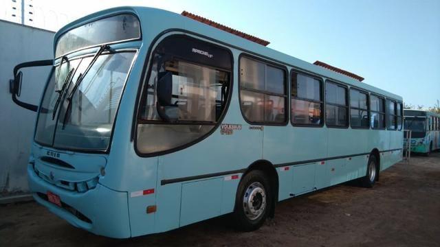 Onibus Volkswagen induscar apache u, cor azul, ano fab/mod 2005, 42 lugares, 206 cv