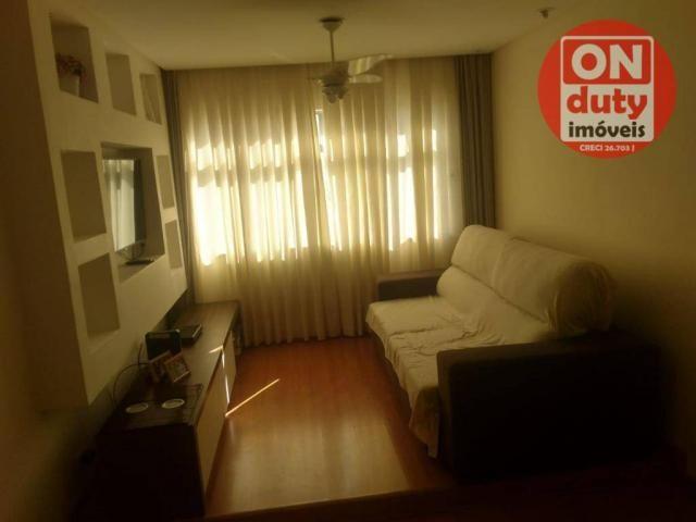 Apartamento com 3 dormitórios à venda, 90 m² por R$ 350.000,00 - Campo Grande - Santos/SP