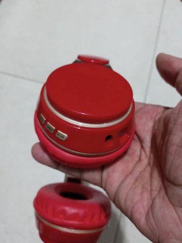 Fone ouvido Bluetooth vermelho - Foto 4