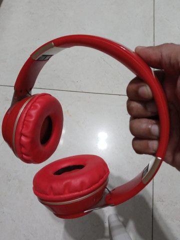 Fone ouvido Bluetooth vermelho - Foto 3