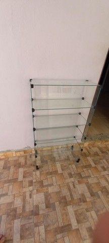 Estante de vidro para loja