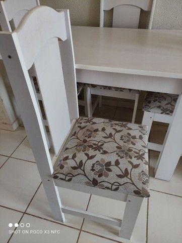 Mesa 4 cadeiras semi nova - Foto 3