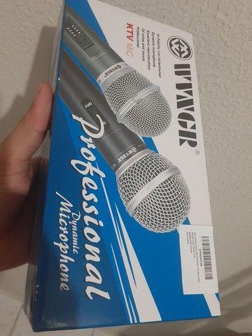 Microfone Dinâmico p Show/Karaokê novo em folha - Foto 3
