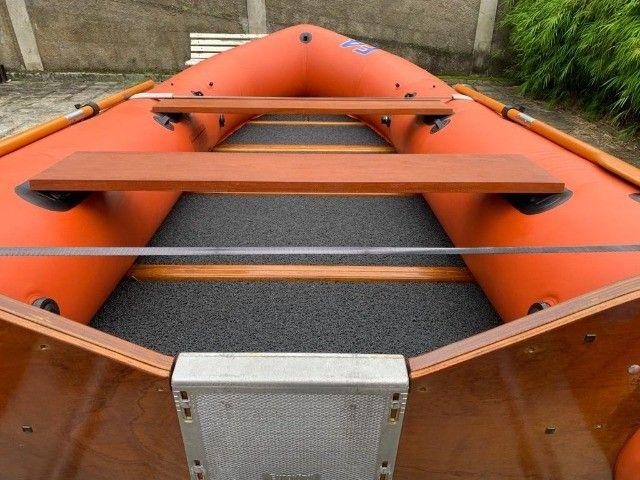 Bote Inflável Offshore Euroflex Desmontável 4,30m Raridade - Foto 2