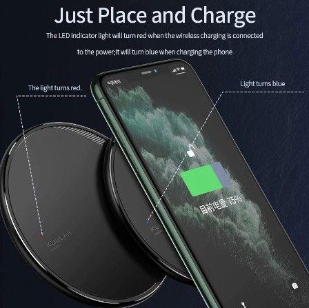 Carregador Kuulaa de 10W, carregamento sem fio para Iphone 8 e samsung s6 edge em diante - Foto 4