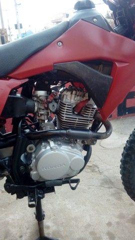Moto veloterra / trilha CRF 200cc - Foto 7