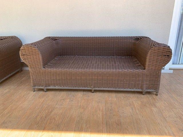 Jogo de sofás para área externa em fibra sintética  - Foto 2