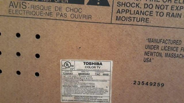 Tv 50 Toshiba antiga  - Foto 4
