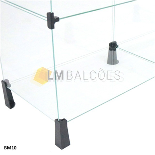 Balcão de Vidro em *L - 2,00 X 1,10 X 0,30 - Foto 4