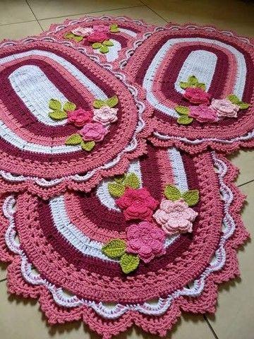 Fabricação de tapetes de Crochê! - Foto 6