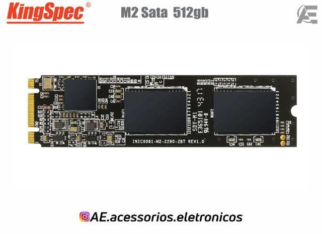 SSD M.2 128gb, 256gb e 512gb Sata - KingSpec - Entregamos e Aceitamos Cartões - Foto 6