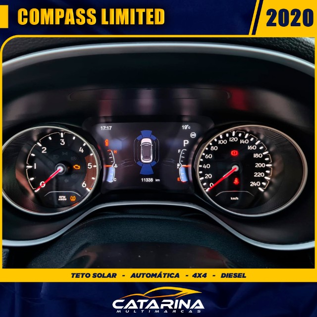 Jeep Compass Limited 2020 com teto  - Foto 8