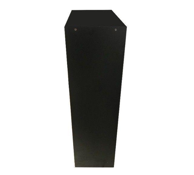 Estante Multiuso em madeira preta com prateleira - Foto 3