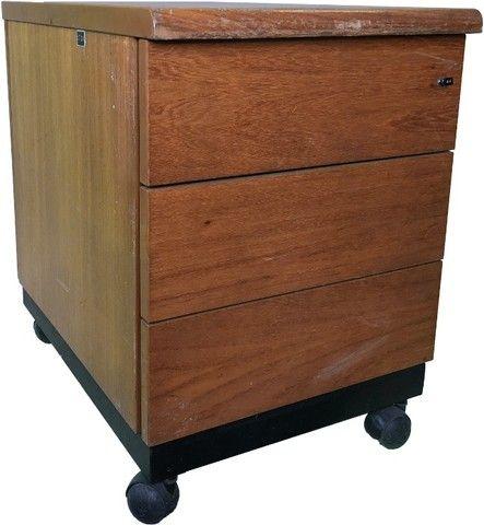 Gaveteiro para escritório ou quarto com 3 gavetas e rodízio
