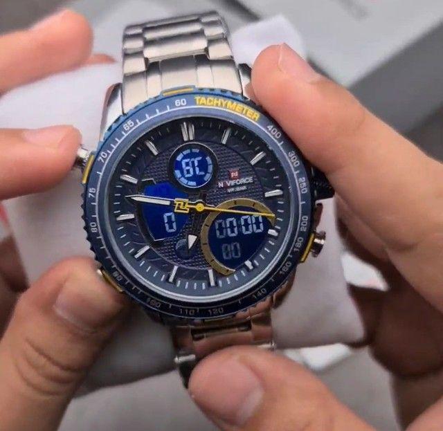 10x Sem Juros Relógio Esportivo Naviforce Analógico Digital Dual Time - Foto 5