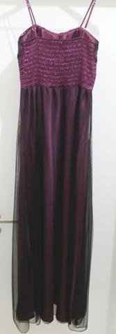 eb3043f49 Vestido de festa em cetim longo - usado somente 1 vez - Roupas e ...