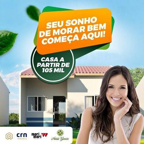 Casa com Sinal de 5 mil - Mensais a partir de 359 reais e descontos que chegam a 31 mil - Foto 6