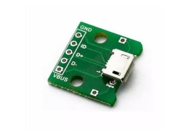 COD-AM162 Modulo Adaptador Dip Solda Para Micro Usb Arduino Automação Robotica
