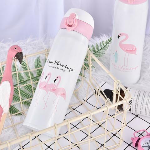 Garrafa Térmica De Inox 450 ML com Estampa de Flamingo - Foto 2