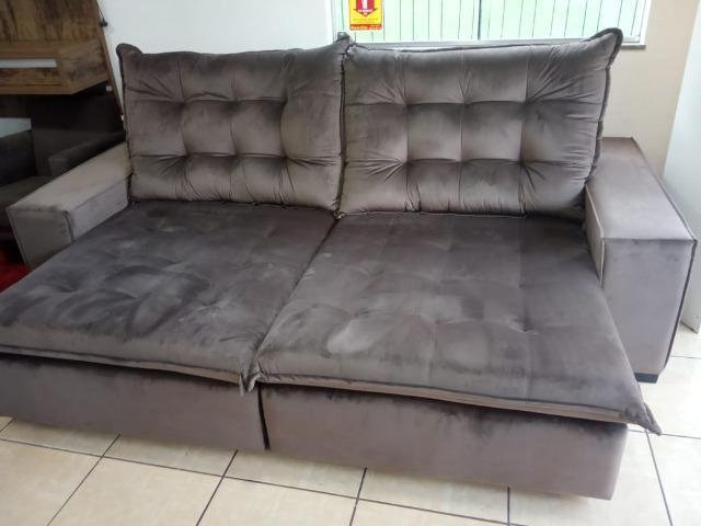 Sofá retrátil e reclinável 2,60 - Foto 4